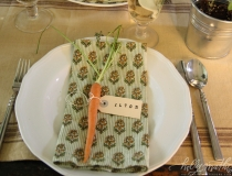 Summer supper place setting
