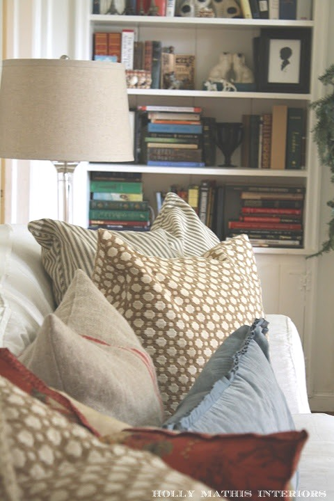 living room pillows. Some  Living room updates Holly Mathis Interiors