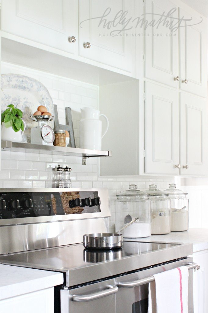 Decorating with glass canisters in the kitchen (Photo via Holly Mathis) | anderson + grant