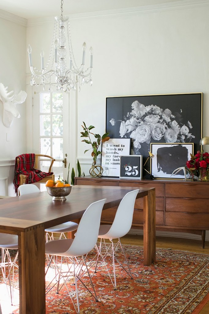 The Makerista-Lindsay Letters-Floral-Black and White-Dining Room