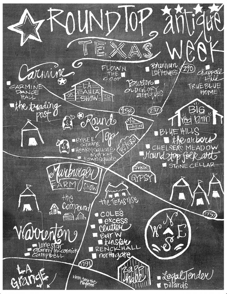 Warren-top Map Chalkboard w signature
